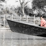 woman on boat lake inle