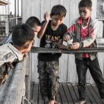 lake inle children play