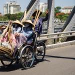 bicycle rickshaw in hue